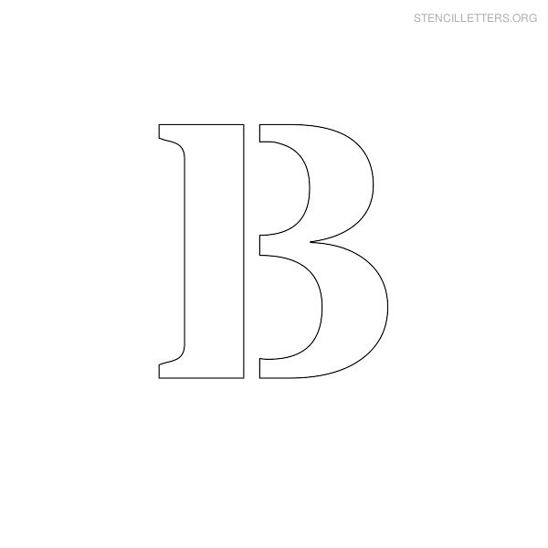 Stencil Letter Uppercase B