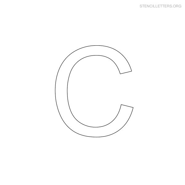 Stencil Letter Arial C