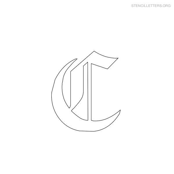 stencil letter gothic c