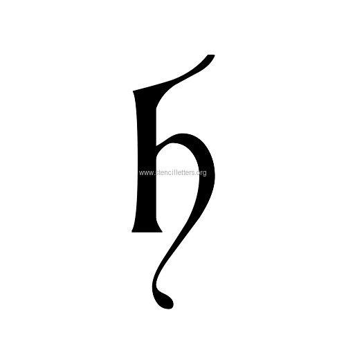 Cardinal Letters Lowercase Stencil Letter H