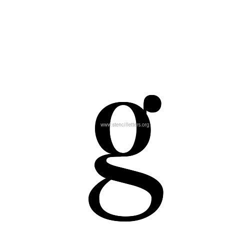 Caslon large letter stencils a z 12 inch to 36 inch sizes caslon letterslowercasestencil letter gg altavistaventures Choice Image