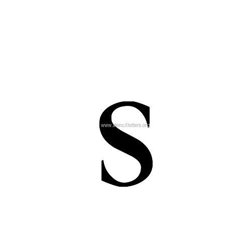 Caslon Small Letter Stencils A-Z | 1/4 Inch to 5 Inch ...