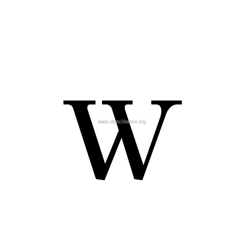Caslon Medium Letter Stencils A-Z | 6 Inch to 11 Inch ...