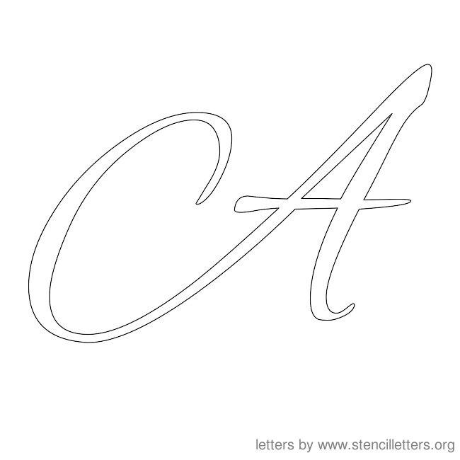 Cursive Alphabet Stencils Letter S