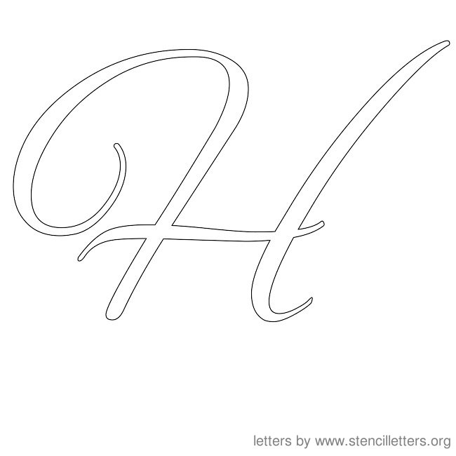 Printables H Cursive Writing in cursive writing scalien h scalien