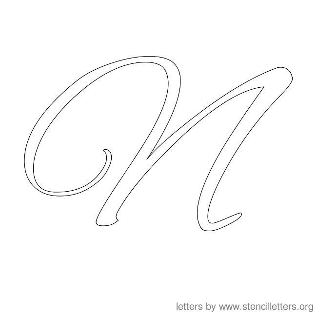 cursive letter stencils n