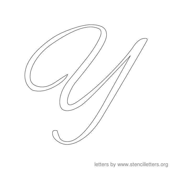 Cursive Stencil Letter