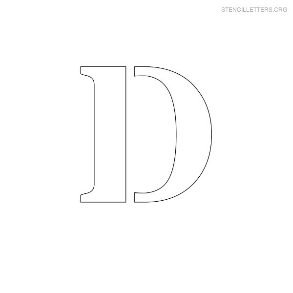 stencil letters d printable free d stencils