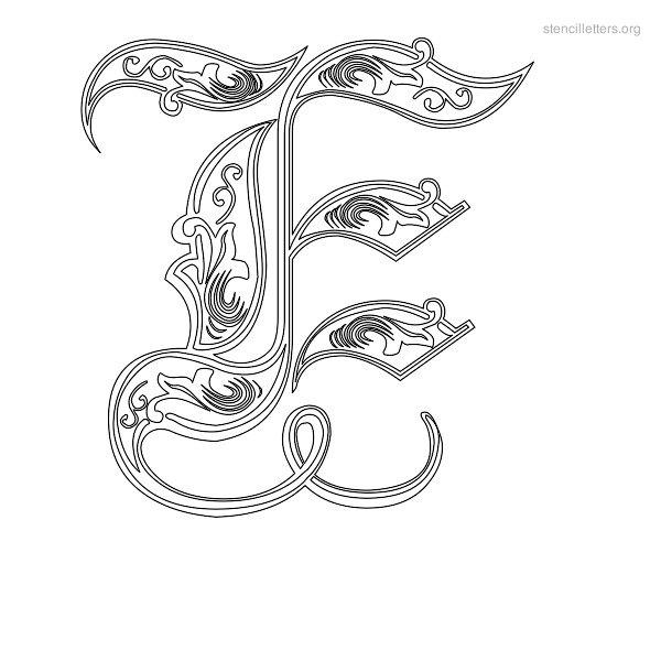 Stencil letters e printable free e stencils stencil letters org stencil letter decorative e spiritdancerdesigns Choice Image