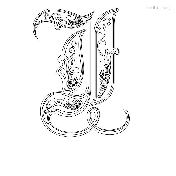 Stencil Letter Decorative I