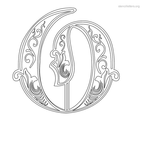 Stencil Letter Decorative O
