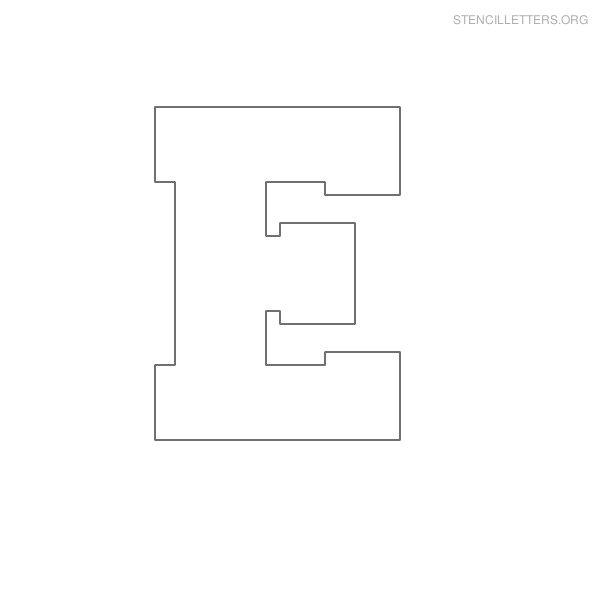 Stencil Letters E Printable Free E Stencils | Stencil Letters