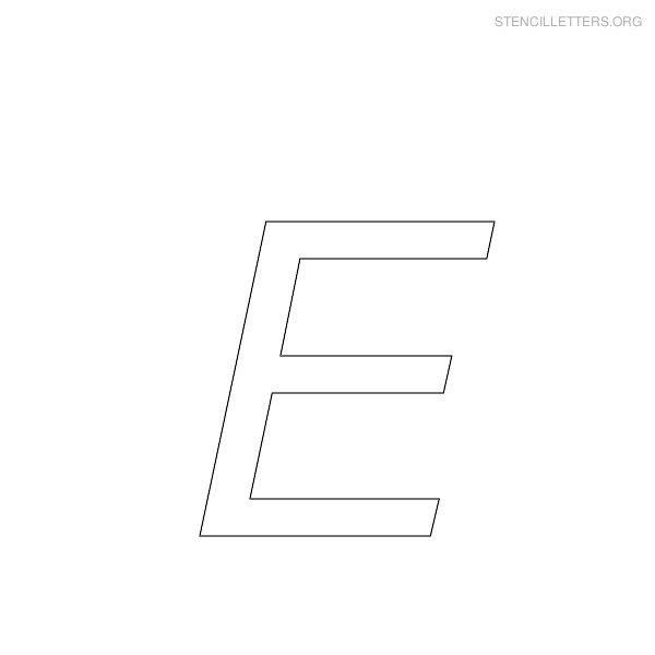 stencil letter italic e