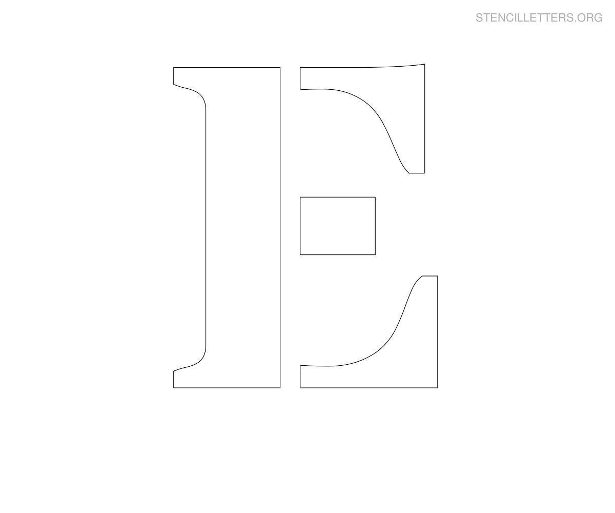 Large Stencil Letters To Print Free