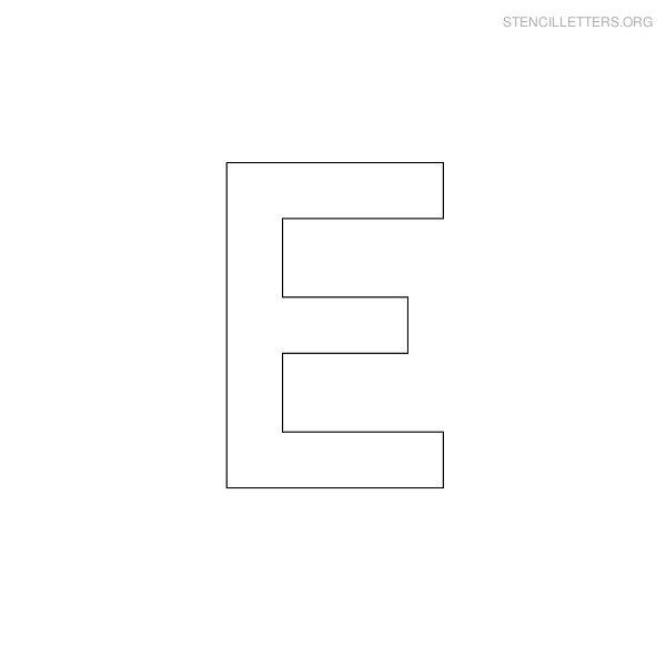 stencil letter military e