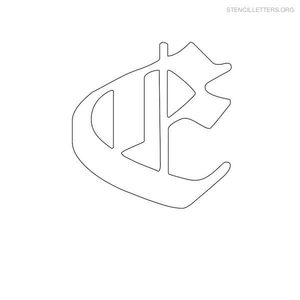 Stencil letters e printable free e stencils stencil letters org stencil letter old english e thecheapjerseys Images