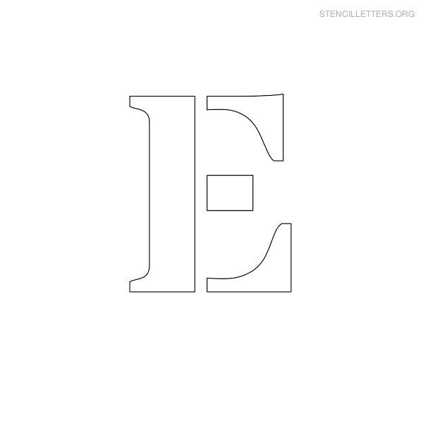 Stencil letters e printable free e stencils stencil letters org stencil uppercase letter e spiritdancerdesigns Choice Image