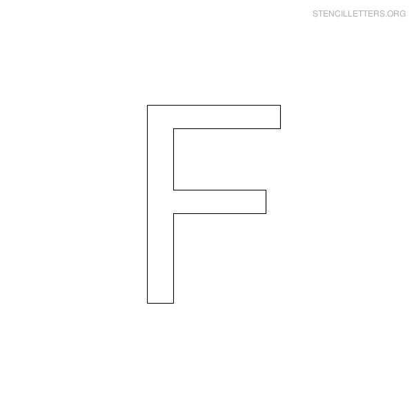Stencil Letter Arial F