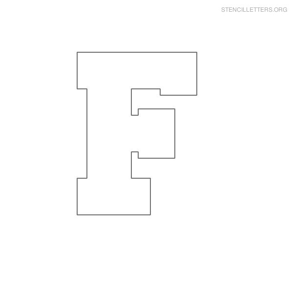 Stencil letters f printable free f stencils stencil letters org stencil letter block f pronofoot35fo Images