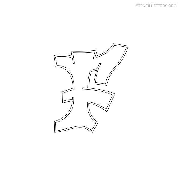 Stencil Letters F Printable Free F Stencils Stencil Letters Org