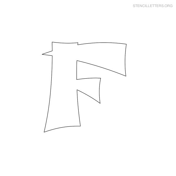 Stencil Letter Japanese F