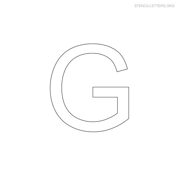 Stencil Letters G