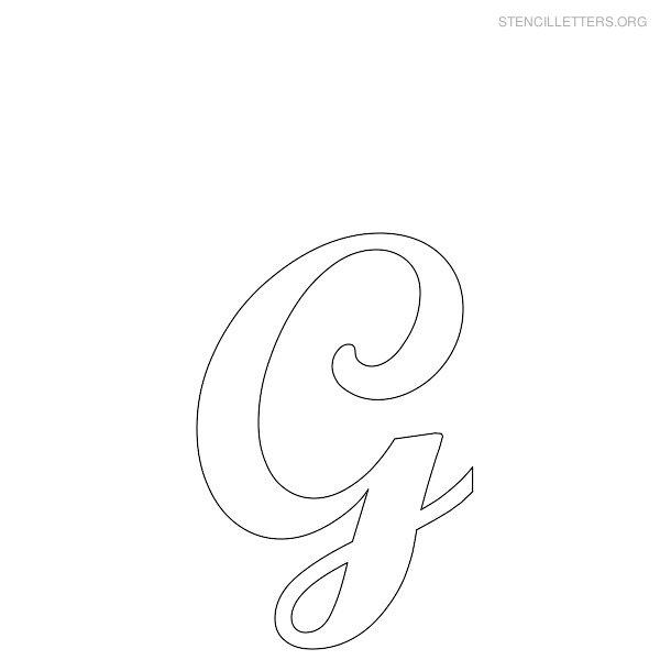 stencil letter cursive g