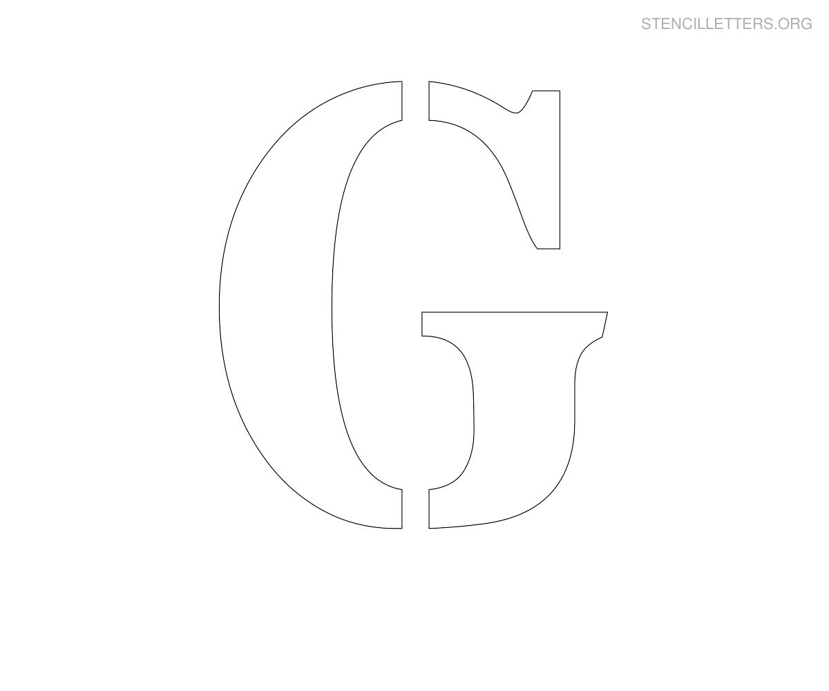 graphic about Letter G Printable identified as Stencil Letters G Printable Free of charge G Stencils Stencil