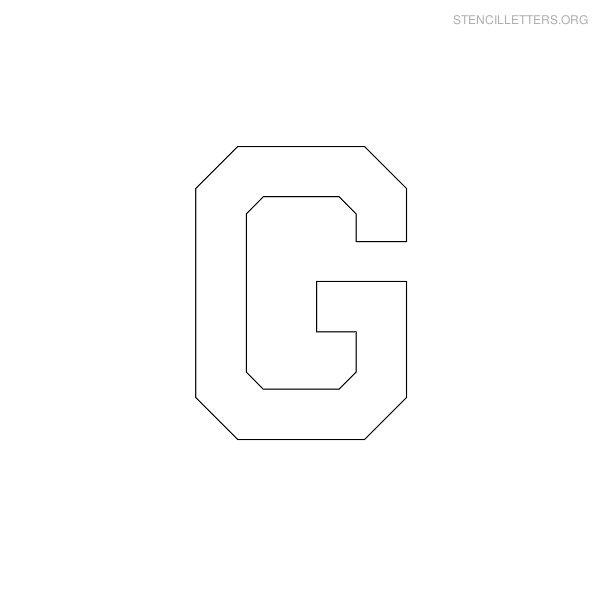 Stencil Letter Military G