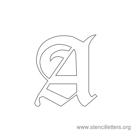 Gothic Stencil Letter A