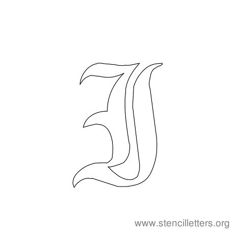 Gothic Stencil Letter I