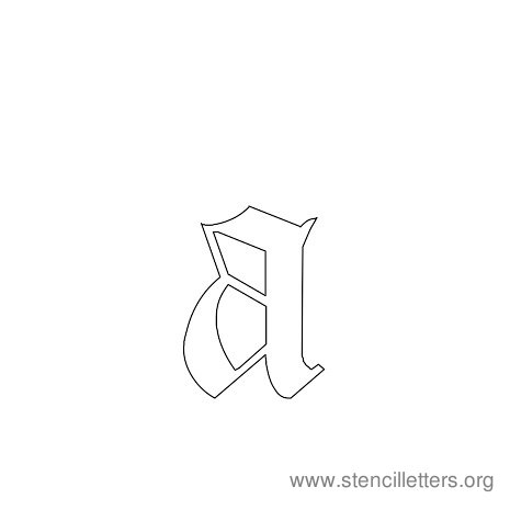 lowercase gothic stencil letter a