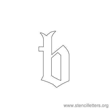 lowercase gothic stencil letter b