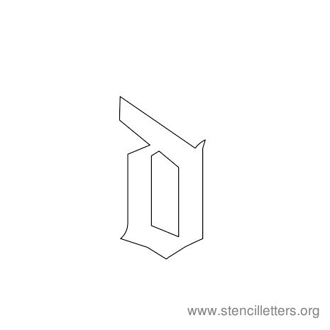 lowercase gothic stencil letter d