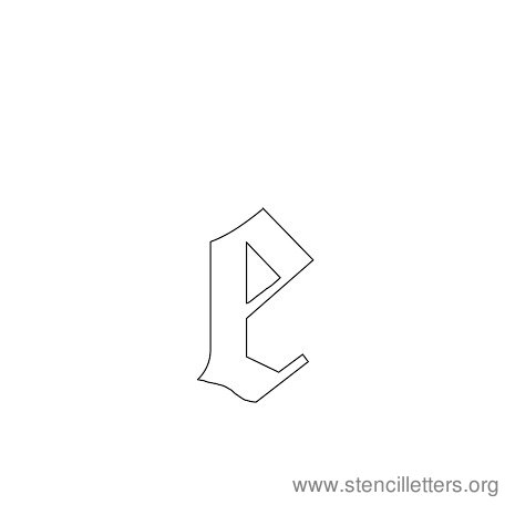 lowercase gothic stencil letter