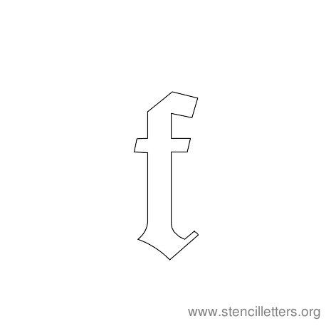 lowercase gothic stencil letter f