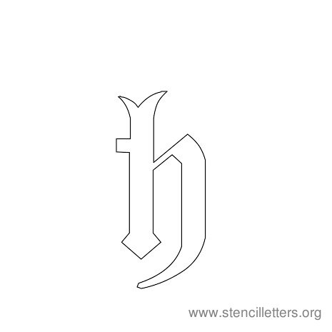lowercase gothic stencil letter h