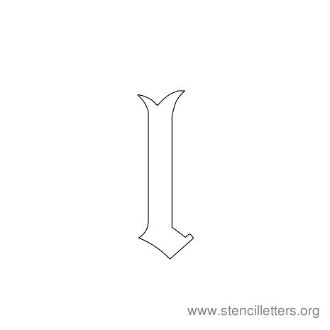 lowercase gothic stencil letter l
