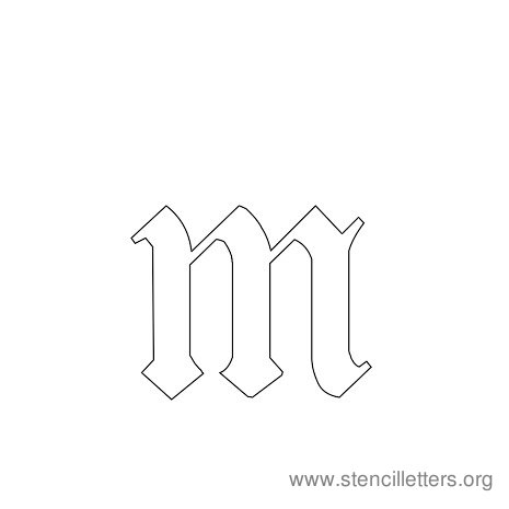 lowercase gothic stencil letter m