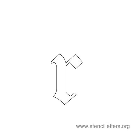 lowercase gothic stencil letter r