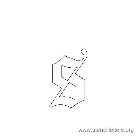 lowercase gothic stencil letter s