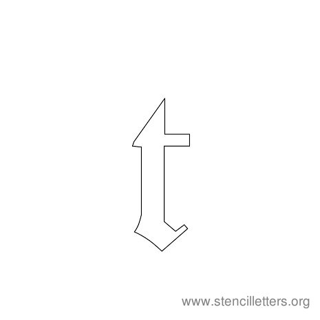 lowercase gothic stencil letter t