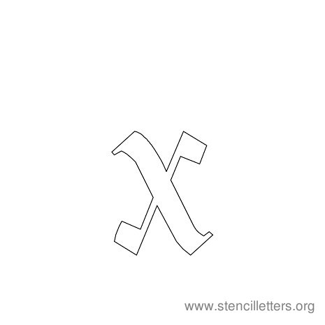 lowercase gothic stencil letter x