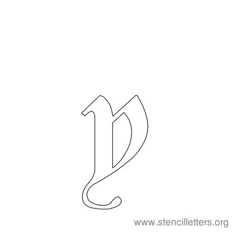 lowercase gothic stencil letter y