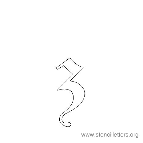 lowercase gothic stencil letter z