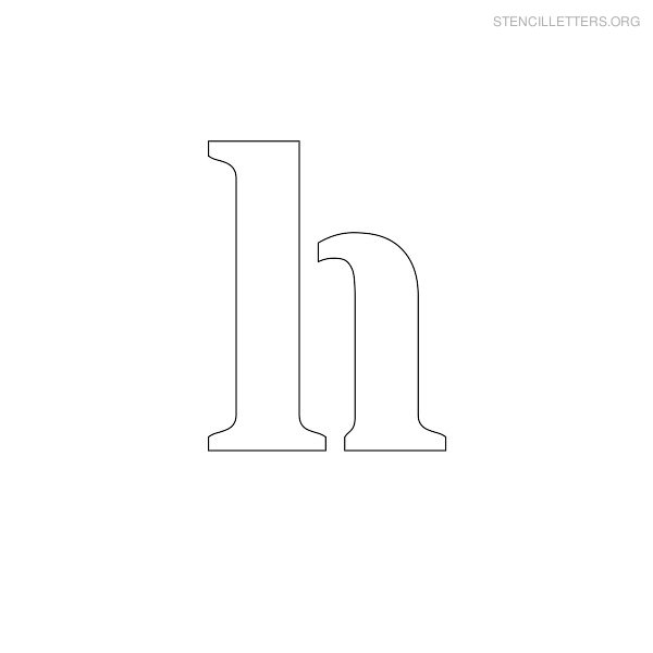 Stencil Letter Lowercase H
