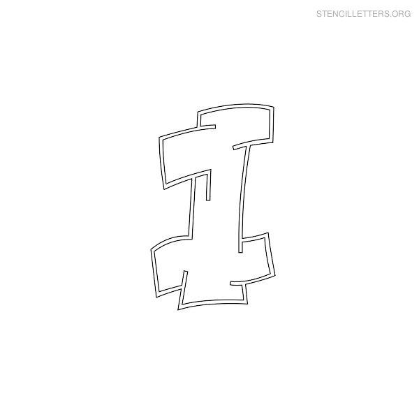 Stencil Letters I Printable Free I Stencils | Stencil Letters Org