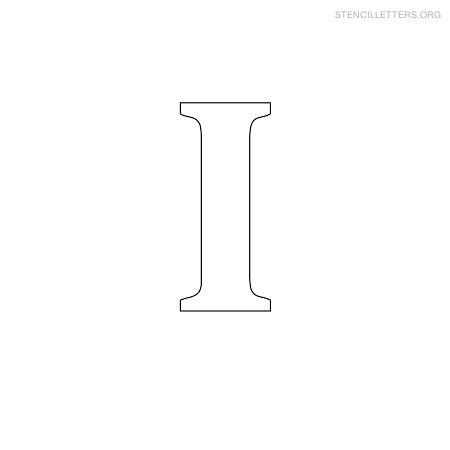 Stencil Letters I on Uppercase Letters