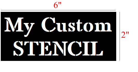 Customer stencil letter measurement