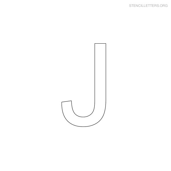 image relating to Letter J Printable named Stencil Letters J Printable No cost J Stencils Stencil